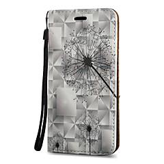 Na Etui na karty Z podpórką Flip Wzór Magnetyczne Kılıf Futerał Kılıf Dmuchawiec Twarde Skóra PU na Samsung Note 5 Note 4 Note 3