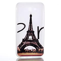 Voor Hoesje cover Glow in the dark Mat Doorzichtig Patroon Achterkantje hoesje Eiffeltoren Zacht TPU voor SamsungJ7 (2016) J5 (2016) J3