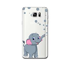 Voor Hoesje cover Ultradun Patroon Achterkantje hoesje Olifant Zacht TPU voor Samsung Note 5 Note 4 Note 3