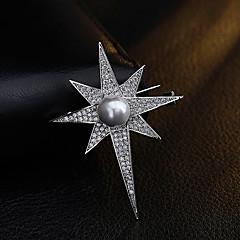 Γυναικεία Άλλο Καρφίτσες Απομίμηση Μαργαριτάρι Στρας Μοναδικό Εξατομικευόμενο Euramerican Επιχρυσωμένο Κράμα Geometric Shape Κοσμήματα Για