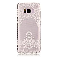 Samsung Galaxy s8 plusz s8 burkolata csipke nyomtatási minta hd festett TPU anyag IMD folyamat telefon esetében s7 s6 szélén s7 s6 s5