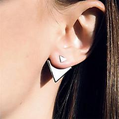 Mulheres Brincos Curtos Estilo simples Europeu Moda bijuterias Liga Triangular Jóias Para Diário Casual