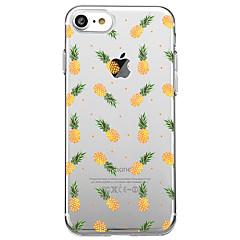 Na iPhone X iPhone 8 Etui Pokrowce Przezroczyste Wzór Etui na tył Kılıf Owoc Miękkie Poliuretan termoplastyczny na Apple iPhone X iPhone