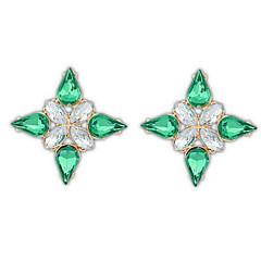 Dame Stangøreringe Dråbeøreringe Store øreringe Imiteret Diamant Enkelt design Unikt design Logo Venskab Tyrkisk Mode Gotisk Vintage