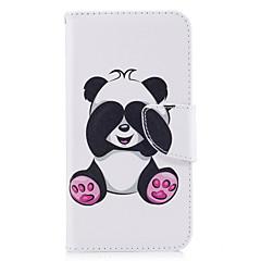 Huawei p10 P9 lite burkolata panda mintás PU anyagból kártya stent pénztárca telefon esetében galaxis 6x y5ii P8 lite (2017)
