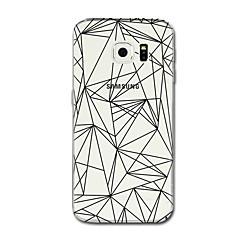 Samsung Galaxy S7 S8 esetben terjed átlátszó minta hátlapot vonalak esetében / hullámok geometriai minta puha TPU Samsung Galaxy S5 s7
