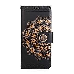 tok Samsung galaxy s8 plusz s8 pénztárca lepattintható kidomborodó teljes test esetében mandala virág kemény PU bőr samsung S7 S7 szélén