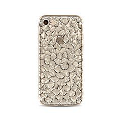 Etui til iphone 7 plus 7 cover gennemsigtigt mønster bagcover case flise blomst soft tpu til iphone 6s plus 6 plus 6s 6 se 5s 5c 5 4s 4
