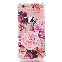 Til iPhone X iPhone 8 Etuier Transparent Mønster Bagcover Etui Blomst Blødt TPU for Apple iPhone X iPhone 8 Plus iPhone 8 iPhone 7 Plus