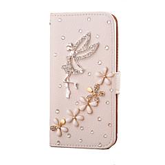 handgemaakte diamanten engel pu lederen full body case met standaard voor Samsung Galaxy S3 / S4 / S5 / s5 minis6 / s6 rand