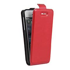 Πλήρης Σώμα Βάση Καρτών / Αντικραδασμικό / Ενάντια στην Σκόνη Culori solide Συνθετικό δέρμα Moale Flip Leather Case Cover για το Apple