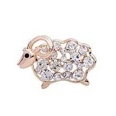 Damskie Dla dziewczynek Broszki Rhinestone Zwierzęta Godny podziwu Kryształ górski Stop Owca Biżuteria Na Impreza Etap