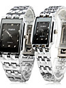 Pair of Alloy Analog Quartz Couple's Watches (Silver) Cool Watches Unique Watches Strap Watch