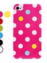 Жесткий чехол в горошек для iPhone 4 и 4S (разные цвета)