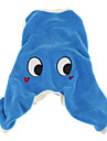 Dog Costume Clothes/Jumpsuit Blue Dog Clothes Winter Spring/Fall Cartoon Cute Cosplay