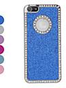 Caisse de diamant de cadre chatoyant de poudre dur pour l'iPhone 5/5s (couleurs assorties)