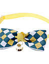 Cat / Dog Collar Bow Tie / With Bell Blue / Pink / Yellow Nylon
