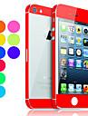 Защитный скин с прозрачной задней панелью для iPhone 5. Цвета в ассортименте