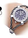 Стильные женские стали аналоговые кварцевые часы браслет (разных цветов)