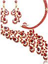여성용 라인석 의상 보석 합금 목걸이 귀걸이 제품 결혼식 파티 특별한 때 생일 약혼 결혼 선물
