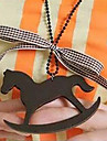 Childhood Pony Princess bow sweater chain necklace N562