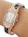 Женские Модные часы Часы-браслет Кварцевый Группа Леопард Кольцеобразный Элегантные часы Белый Синий Красный Коричневый Серый