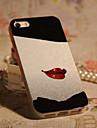 joyland tpu + paillettes rouge à lèvres rouge arrière pour l'iphone 4/4s
