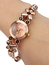 Women\'s Little Round Dial Diamante Flower Alloy Band Quartz Analog Wrist Watch Cool Watches Unique Watches