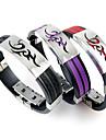 Homme Bracelets Rigides Bracelets en cuir Bracelet Original bijoux de fantaisie Pierre Mode Acier inoxydable Silicone Bijoux Bijoux Pour