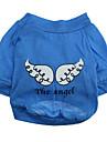 Chien Tee-shirt Bleu Vetements pour Chien Ete Dessin-Anime