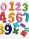 Símbolo colorido engraçada da matemática de madeira imã brinquedo educativo (Número 0-9 e sinal)