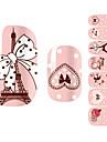 28PCS romantico rosa Paris Projeto Art Nail Stickers