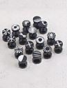 Lureme®316L Surgical Titanium Steel Engraved Designs Single Stud Earrings (Random Color) Christmas Gifts