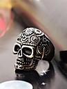밴드 반지 스테인레스 티타늄 스틸 Skull shape 패션 실버 - 블랙 보석류 일상 캐쥬얼 크리스마스 선물