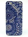 아이폰 5 / 5S에 대한 아이폰 7을 더한 복고풍 해바라기 아이 패턴 하드 케이스