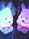 Coway Nabo coelho colorido LED Night Light Fontes do casamento Little Rabbit bonito