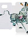 Couro dos desenhos animados da zebra caso de corpo inteiro para Samsung Galaxy S2 I9100
