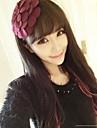 lureme®fashion 천으로 큰 꽃 머리띠 (모듬 된 색상)
