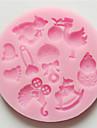 Molde Desenhos Animados 3D Para Bolo Para Biscoito Para Torta Silicone Ecológico Alta qualidade Anti-Aderente