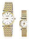 여성용 드레스 시계 패션 시계 손목 시계 석영 스테인레스 스틸 밴드 골드