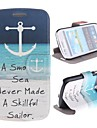 For Samsung Galaxy Case Card Holder / with Stand / Flip / Pattern Case Full Body Case Anchor PU Leather Samsung S3 Mini