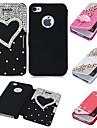 casebox® роскошный дизайн с алмазной о.е. leatheer полном случае тела для IPhone 4 / 4s (разных цветов)
