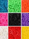baoguang®600pcs 무지개 색 베틀 패션 고무 밴드 (1package의 클립, 모듬 색상)를 직기