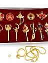Joias Inspirado por Sailor Moon Sailor Moon Anime Acessorios de Cosplay Colares Dourado / Prateado Liga Feminino