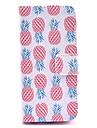 Coco fun® padrao abacaxi rosa couro pu caso de corpo inteiro com protetor de tela, caneta e ficar para iphone 5c