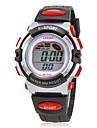 아가씨들 스포츠 시계 패션 시계 디지털 시계 손목 시계 석영 디지털 실리콘 밴드 블랙