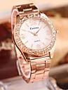 여성의 패션 스틸 벨트 시계 모조 다이아몬드