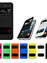 VORMOR® Double View Screen PU Leather Case for iPhone 4/4S (Assorted Colors)
