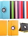 Pour Etuis coque Avec Support Rotation 360° Coque Integrale Coque Couleur unie Cuir PU pour iPad Air 2