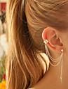 여성용 클립 귀걸이 귀걸이 귀는 개인 유럽의 패션 의상 보석 은 도금 합금 Leaf Shape 보석류 제품 파티 생일 일상 캐쥬얼